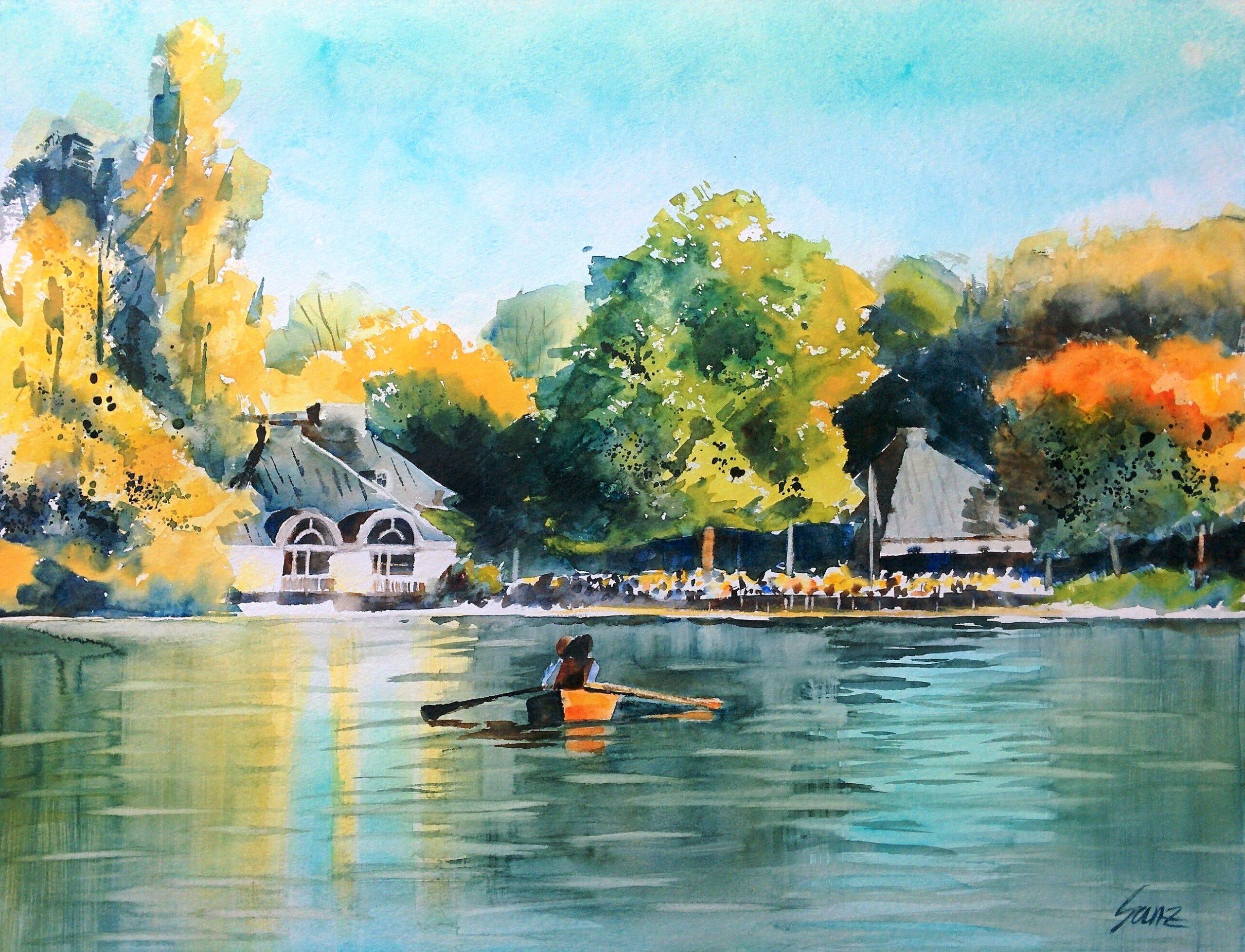 Kleinhesseloher See im Herbst